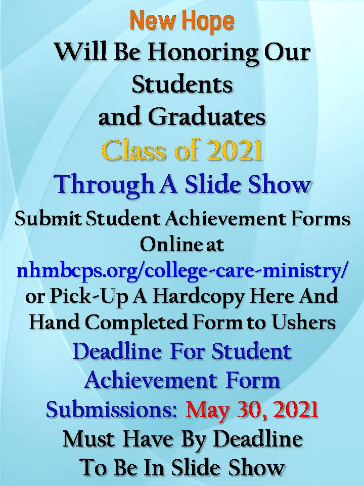 College Care Graduation Flyer