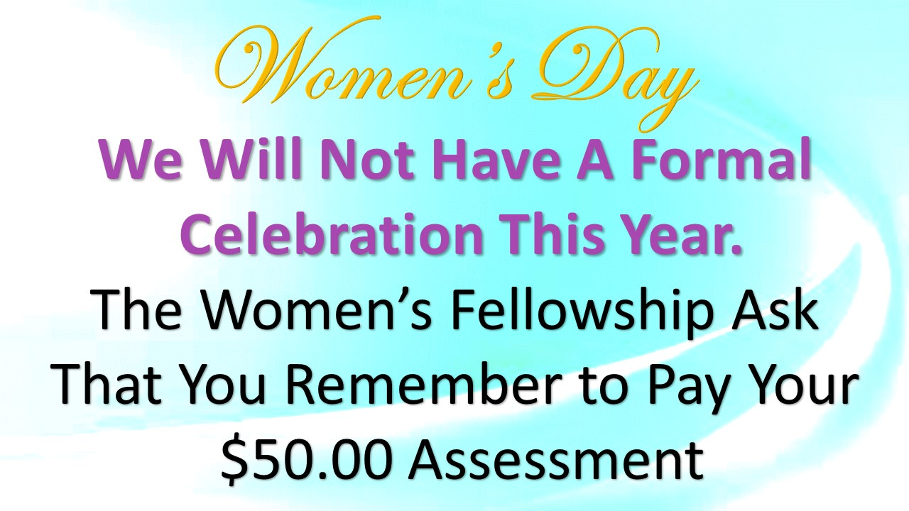 Women's Day Announcement